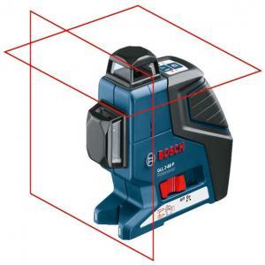 Линейный лазерный нивелир Bosch GLL 2-80 P + вкладка под L-Boxx
