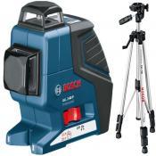 Линейный лазерный нивелир Bosch GLL 3-80 P + BS 150 + вкладка под L-Boxx