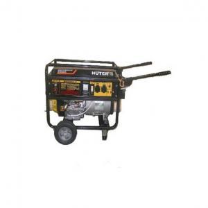 Бензиновый генератор Huter DY 6500LX с колесами и аккумулятором