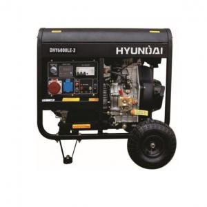Дизельный генератор Hyundai DHY 6000LE-3 + колёса