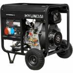 Дизельный генератор Hyundai DHY 8000LE-3 + колёса