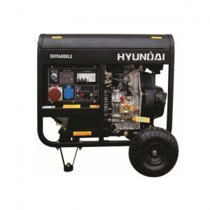 Дизельный генератор Hyundai DHY 6000LE + колёса