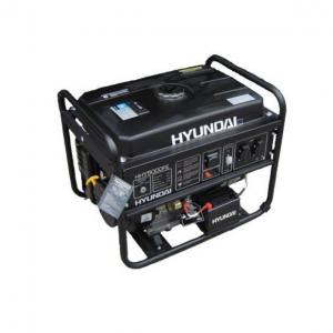 Бензиновый генератор Hyundai HHY 5000F + электронный счётчик моточасов