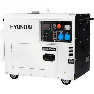 Дизельный генератор Hyundai DHY 6000SE + колёса